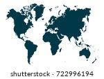 vector world map | Shutterstock .eps vector #722996194
