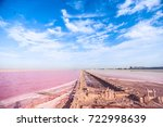 Brine And Salt Of A Pink Lake ...