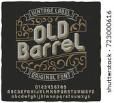vintage label typeface named ... | Shutterstock .eps vector #723000616