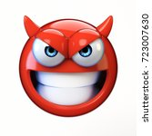 devil emoji isolated on white... | Shutterstock . vector #723007630