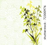 floral invitation for life... | Shutterstock . vector #72300976