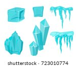 realistic ice caps snowdrifts... | Shutterstock .eps vector #723010774