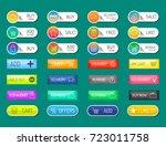 colorful website online shop... | Shutterstock .eps vector #723011758