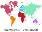 color world map | Shutterstock .eps vector #723013708