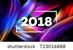 2018 new year on the background ... | Shutterstock .eps vector #723016888