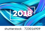 2018 new year on the background ... | Shutterstock .eps vector #723016909