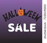 halloween sale banner. vector... | Shutterstock .eps vector #723019003