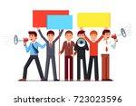 political agitator business men ... | Shutterstock .eps vector #723023596