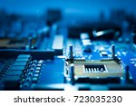 electronic circuit board... | Shutterstock . vector #723035230