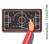 football or hockey coach is... | Shutterstock .eps vector #723035740