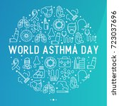 world asthma day concept in... | Shutterstock .eps vector #723037696