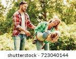 happy family of three having...   Shutterstock . vector #723040144