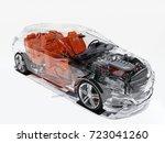 model cars on a white...   Shutterstock . vector #723041260