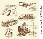 old times original hand drawn... | Shutterstock .eps vector #72304165