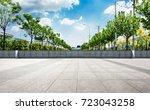 floor with tree and sky... | Shutterstock . vector #723043258