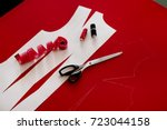 tailoring and sewing clothes.... | Shutterstock . vector #723044158