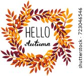hello october. illustration... | Shutterstock . vector #723046546