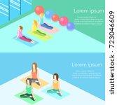 isometric interior of yoga... | Shutterstock .eps vector #723046609