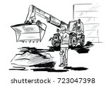on the building site | Shutterstock .eps vector #723047398