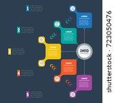 business presentation or... | Shutterstock .eps vector #723050476