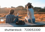 couple of a young man and a... | Shutterstock . vector #723052330