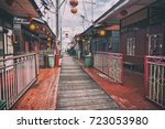 heritage stilt houses of the... | Shutterstock . vector #723053980