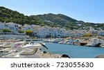 panoramic landscapes of the... | Shutterstock . vector #723055630