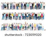 group of different people  work ... | Shutterstock .eps vector #723059320