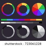 set of color gradients. color... | Shutterstock .eps vector #723061228