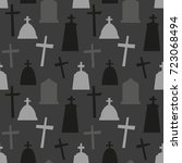 seamless pattern with... | Shutterstock .eps vector #723068494