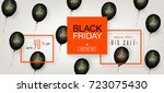 black friday sale. beautiful... | Shutterstock .eps vector #723075430