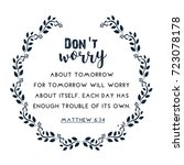 bible quote in wreath text frame | Shutterstock .eps vector #723078178