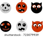 collection of 6  icons. for...   Shutterstock . vector #723079939