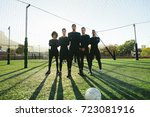 full length of five a side... | Shutterstock . vector #723081916
