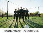 full length of five a side... | Shutterstock . vector #723081916