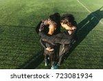 five a side football team... | Shutterstock . vector #723081934