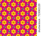 seamless repeat pattern with... | Shutterstock .eps vector #723082120