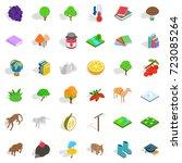 zoology icons set. isometric... | Shutterstock .eps vector #723085264