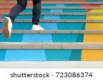 lower part of teenage girl in... | Shutterstock . vector #723086374