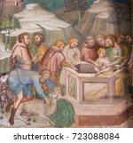 san gimignano  italy   july 11  ...   Shutterstock . vector #723088084