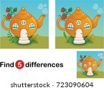 find 5 differences education... | Shutterstock .eps vector #723090604