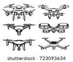 drone quadrocopter logo design  ...