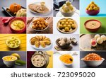 stock photo collage of indian... | Shutterstock . vector #723095020