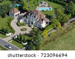 Aerial View Over A Large...