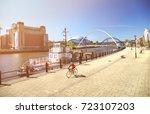 newcastle upon tyne  england ...   Shutterstock . vector #723107203