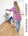 girl shout to his desperate... | Shutterstock . vector #723108934