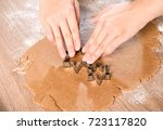 dealing with gingerbread start... | Shutterstock . vector #723117820