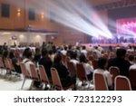 blur the music activity of...   Shutterstock . vector #723122293