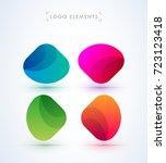 vector abstract logo elements.... | Shutterstock .eps vector #723123418