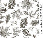 decorative seamless pattern... | Shutterstock .eps vector #723125140